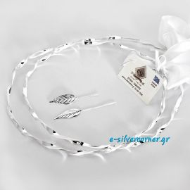 Silver Wedding Crowns A-1035