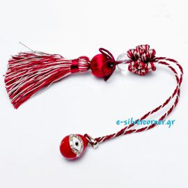 Fashion Egg Easter Charm in Red