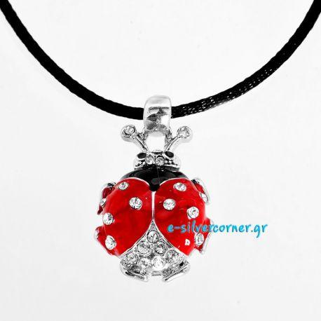 Ladybug Easter Charm/Pendant with Cord