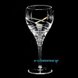 Ποτήρι Κρασιού για Γάμο 002 με Επίχρυση Διακόσμηση