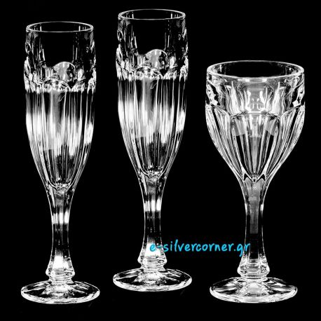 Crystal Set Wedding Glasses BOHEMIAN BELLE ÉPOQUE