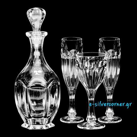Σετ Καράφα Ποτήρι για Γάμο 030