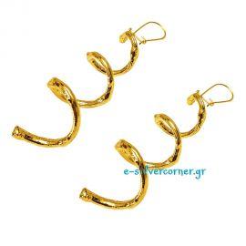 Σκουλαρίκια χειροποίητα ''Βέργα Ελιάς