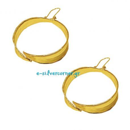 Handmade Hoop Earrings Olive