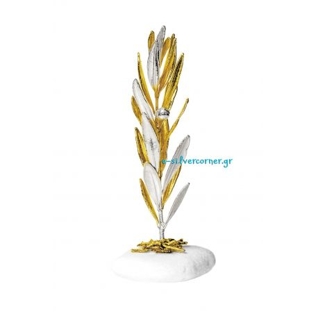 Olive Branch with Silver and Gold (Large)