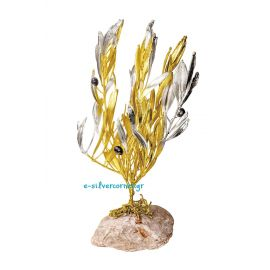 Olive Branch with Gold and Silver (Large)