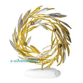 Φυσικό Στεφάνι Ελιάς Χρυσό