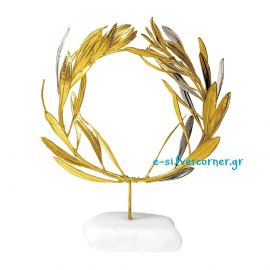 Wreath made from Olive Branch in Silver and Gold