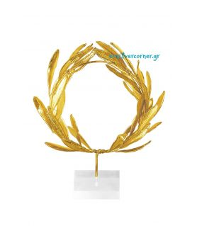 Gold Wreath from Olive Branch - Plexiglass