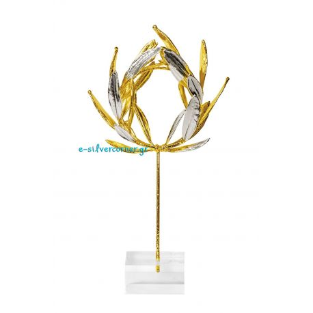Gold and Silver Wreath from Olive Branch
