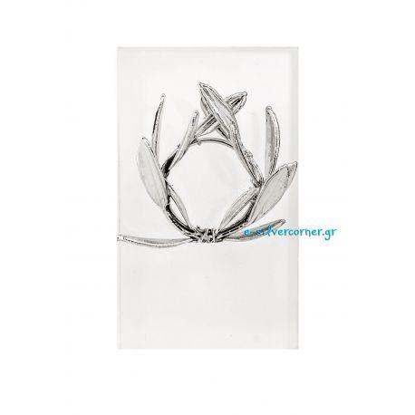 Silver Wreath from Olive Branch in Plexiglass