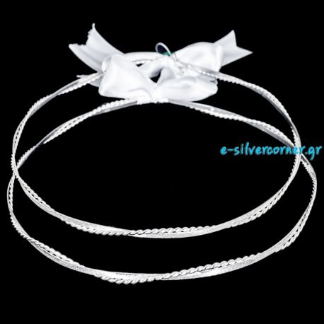 Silver Wedding Crowns ZENIA