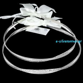 Silver Wedding Crowns KASSIOPI