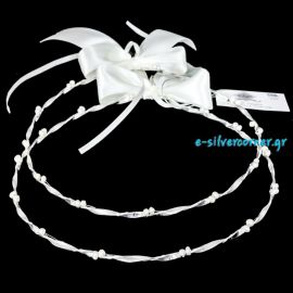 Handmade Wedding Crowns WHITE PEARL