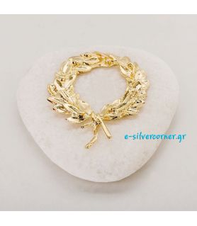 Gold-plated Kotinos Charm on White Stone