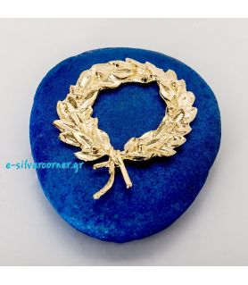 Gold-plated Kotinos Charm on Blue Stone