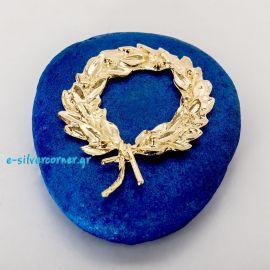 Στεφάνι κότινος επίχρυσο σε μπλε πέτρα