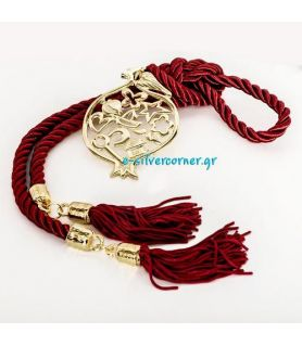 Gold-plated Pomegranate Charm with Cord