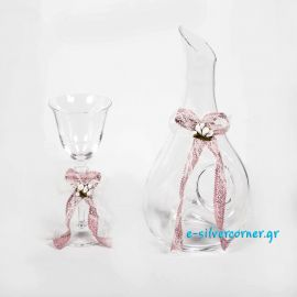Crystal Wedding Wine Glass BOHEMIAN AZALEA