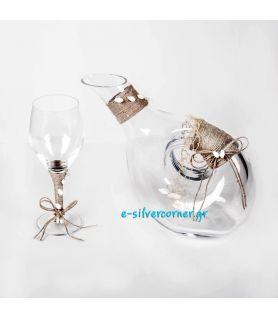 """Σετ Γάμου """" Crystal Set 498/LN"""""""