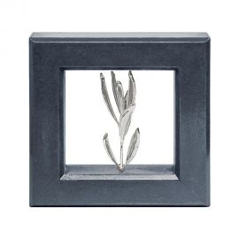 Picture Frame with Real Olive Branch - Silver