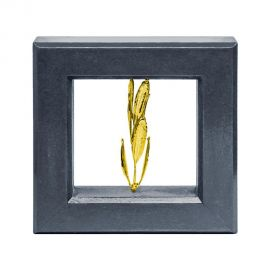 Picture Frame with Real Olive Branch - Gold