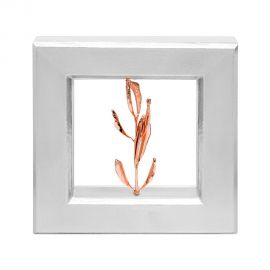 Silver Picture Frame with Real Olive Branch - Rose Gold