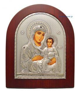 Ασημένια εικόνα Υπεραγία Θεοτόκος Ιεροσολυμίτισσα