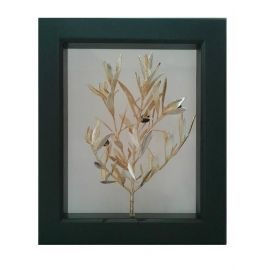 Picture Frame with Real Olive Branch