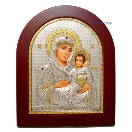 Holy Virgin Mary of Jerusalem (Gold Decoration)