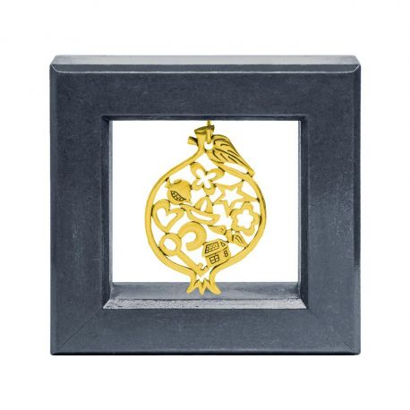 Picture Frame with Gold Pomegranate