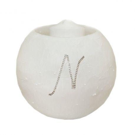Κερί μπάλα με μονόγραμμα στρας