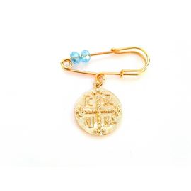 Gold-Plated Silver Baby Boy's Pin