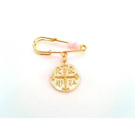 Gold-Plated Silver Baby Girl's Pin