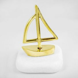 Sailboat with Mast on Marble