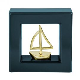 Picture Frame with Bronze Sailboat
