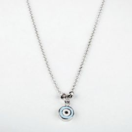 Sterling Silver Evil Eye Pendant