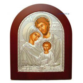 Ασημένια εικόνα Αγία Οικογένεια