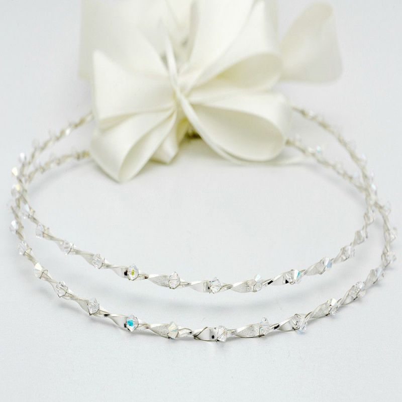 370ba075f097 Στεφανα Γαμου με Πετρες Μελίνα- Catherine s Silver Corner