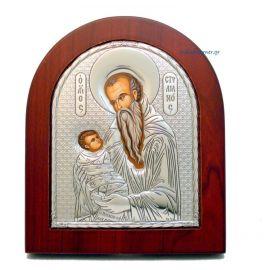 Ασημένια εικόνα Άγιος Στυλιανός