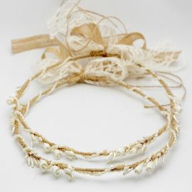 Handmade Wedding Crowns CANVAS ROSES PEARL