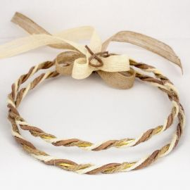 Handmade Wedding Crowns CANVAS LEATHER BRONZE