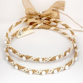 Handmade Wedding Crowns CANVAS LACE PEARL