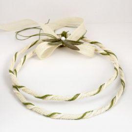 Handmade Wedding Crowns CANVAS IVORY GREEN