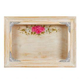 Στεφανοθήκη VINTAGE Πίνακας με Ασημένιες Γωνίες