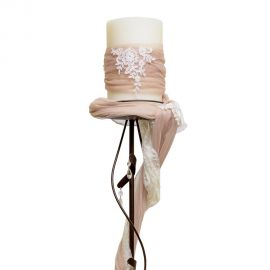 Candleholder with Lace and Tulle