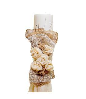 Λαμπάδα Γάμου με Χειροποίητο Στολισμό