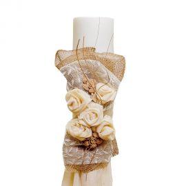 Hand Embellished Wedding Candle