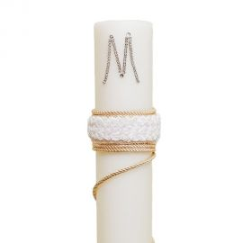 Wedding Candle with Cord and Initials