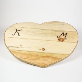Wooden Tray PINE HEART